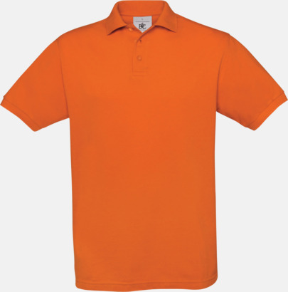 Pumpkin Orange Kortärmade pikétröjor med egen brodyr