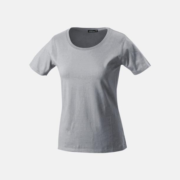 Ash (heather) T-shirtar av kvalitetsbomull med eget tryck