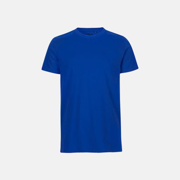 Royal (herr) Fitted t-shirts i ekologisk fairtrade-bomull med tryck