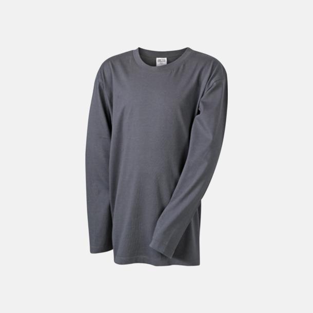 Graphite (barn) Långärmade t-shirts i herr-, dam- & barnmodell med reklamtryck