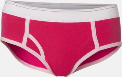 Fuchsia/rosa Hipstertrosor med reklamtryck