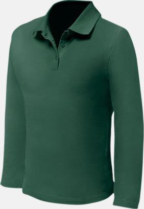 Bottle Green (endast herr) Långärmade pikétröjor till lägre priser med reklamtryck