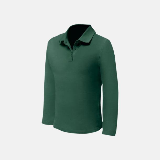 Bottle Green (herr) Långärmade pikétröjor till lägre priser med reklamtryck