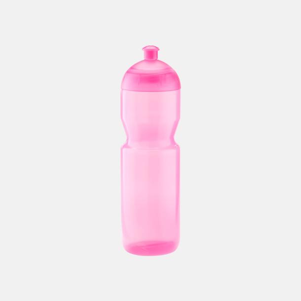 Transparent rosa (750 ml) Bulb-vattenflaskor i 4 storlekar med digitaltryck