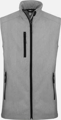 Marl Grey (herr) Softshell Bodywarmers i herr- & dammodell med reklamtryck