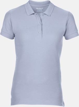 Ljusblå Billiga dampikétröjor med tryck