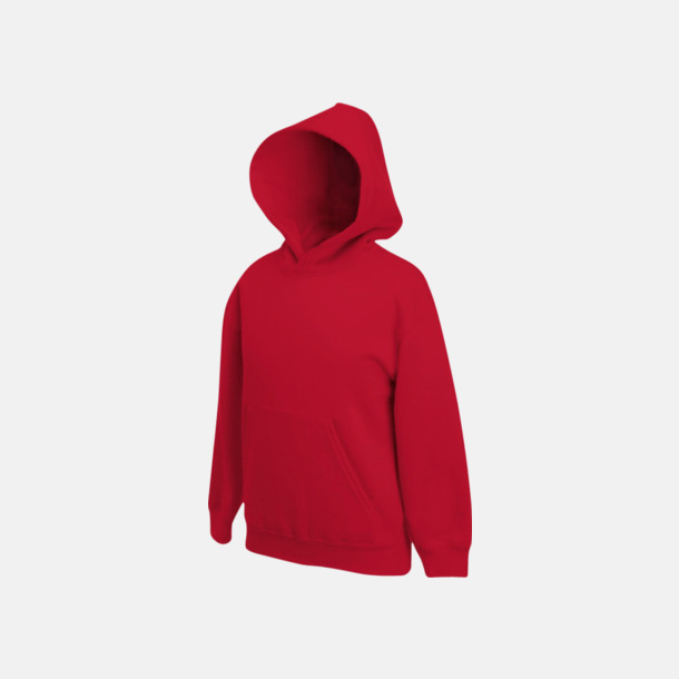 Röd Huvtröjor för barn i många färger med reklamtryck