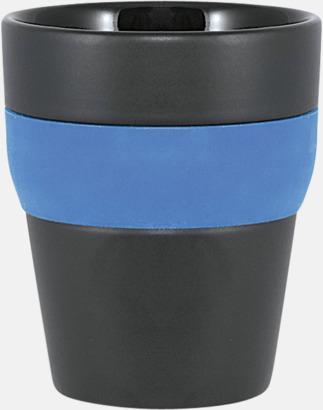 Svart / Blå Robusta take away-muggar med silikonsleeve