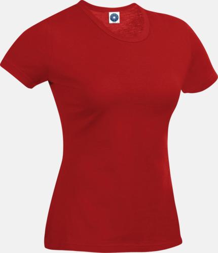 Bright Red (dam) Funktions t-shirts i herr- & dammodell med reklamtryck