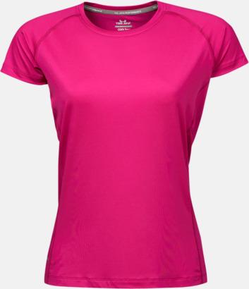 Bright Fuchsia (dam) Funktions t-shirts i herr- & dammodell med reklamtryck