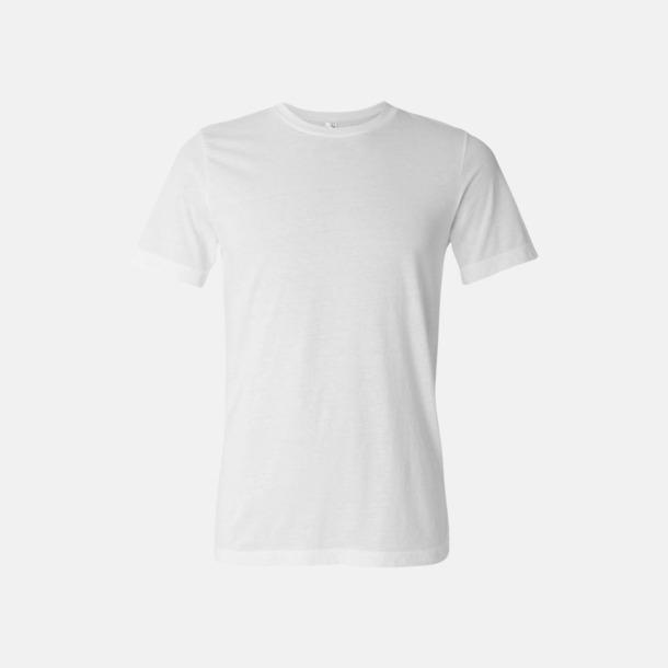 Vit Unisex t-shirts i spräckliga färger med reklamtryck