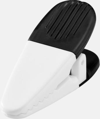 Svart (solid)/Vit Memohållare och klämma i ett - med tryck