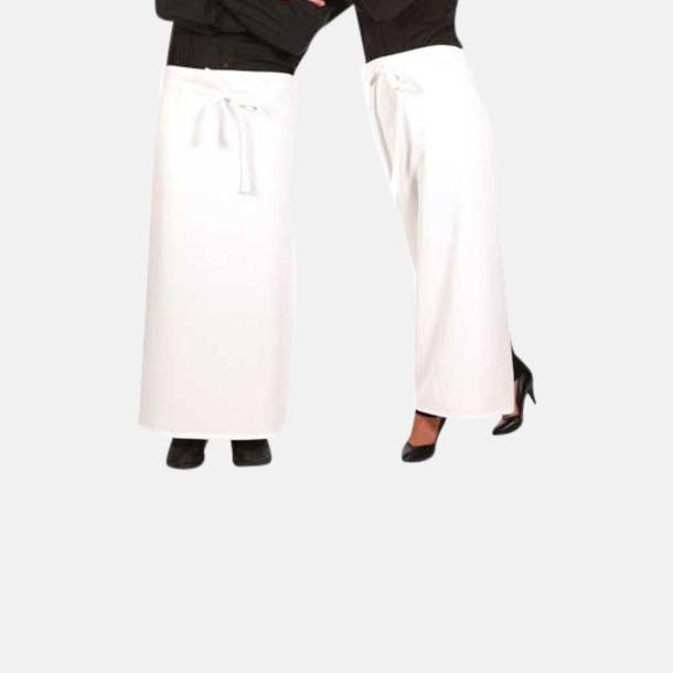 Vit (bistroförkläde) Midjeförkläden  i 2 längder med sublimeringstryck
