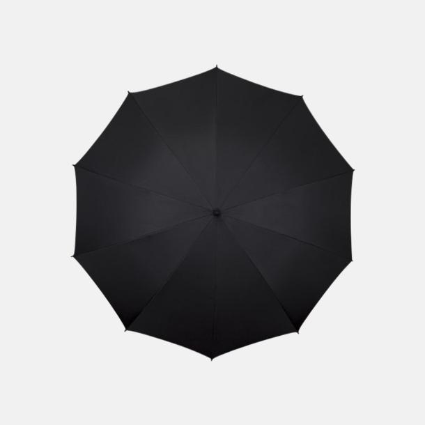 Svart Stora golfparaplyer med eget reklamtryck