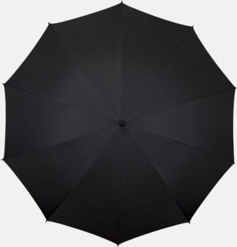 Svart Stora golfparaplyer med eget tryck