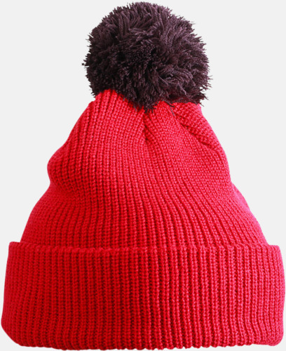 Berry/maroon Toppluvor med uppvik - med brodyr