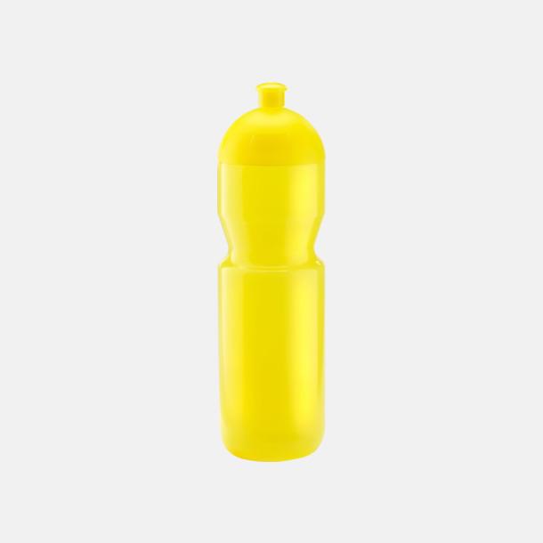 Transparent gul (750 ml) Bulb-vattenflaskor i 4 storlekar med digitaltryck