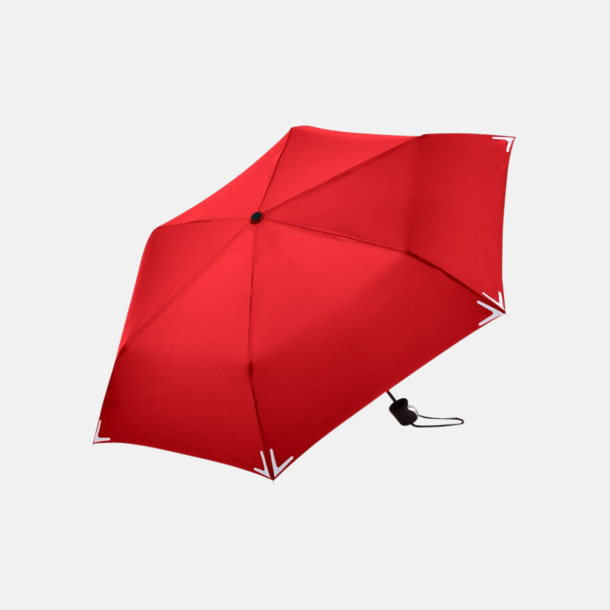 Röd Kompakta reflex paraplyer med eget reklamtryck
