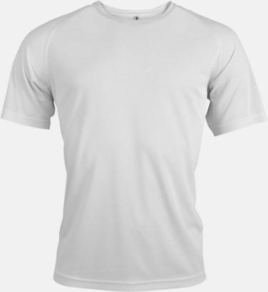 Vit Sport t-shirts i många färger för herrar - med reklamtryck