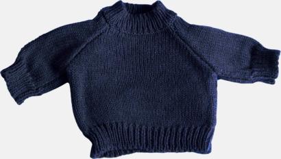 Marinblå Tjocktröjor för kramdjur med reklamtryck