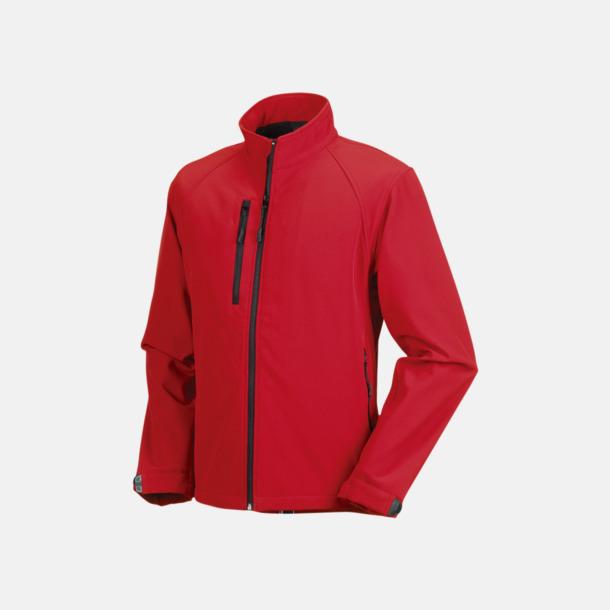 Classic Red Softshelljackor i hermodell med reklamtryck