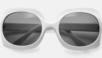 Vit Solglasögon med eget tryck