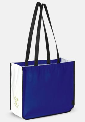 Blå Stor kasse av i återvunnet non woven-material med reklamtryck