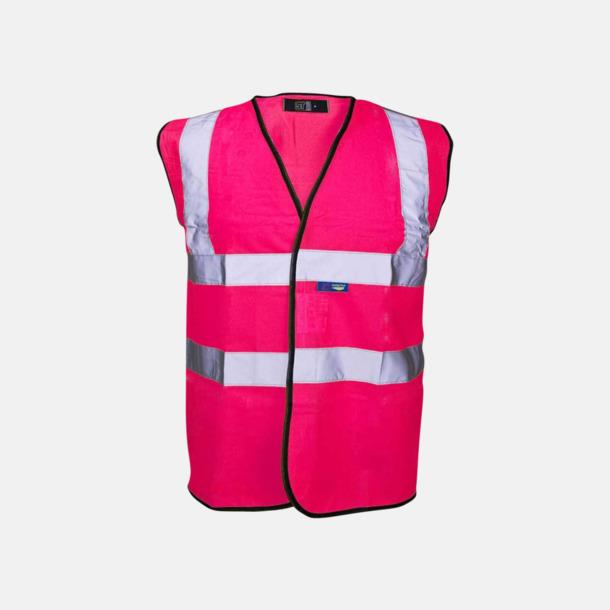 Rosa Färgglada säkerhetsvästar med reklamtryck