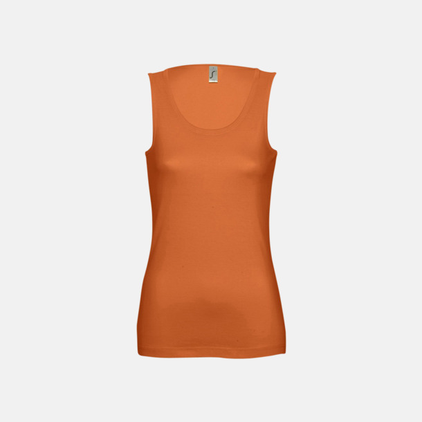 Orange (dam) Billiga linnen med tryck av egen logo