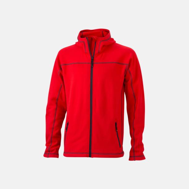 Röd/Carbon (herr) Figursydda herr- & damjackor i fleece med reklamlogo