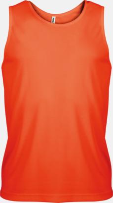 Floucerande Orange Herrlinnen av funktionsmaterial med reklamtryck