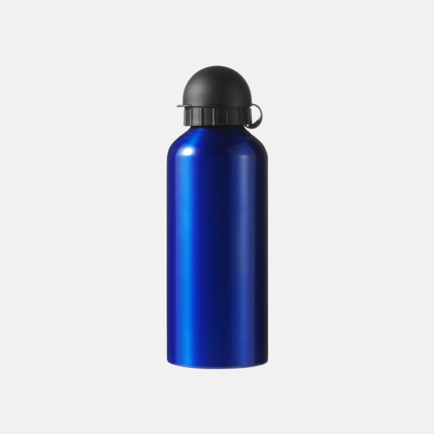 Blå Vattenflaskor av stål med gravyr