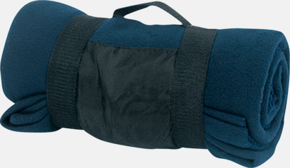 Marinblå Billiga fleecefiltar med tryck