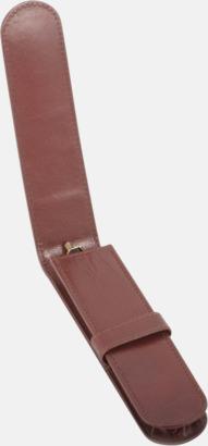 Pennfodral i läder från Mauro Conti - med reklamtryck