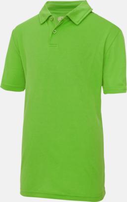 Limegrön Barnpikétröjor i många färger - med reklamtryck
