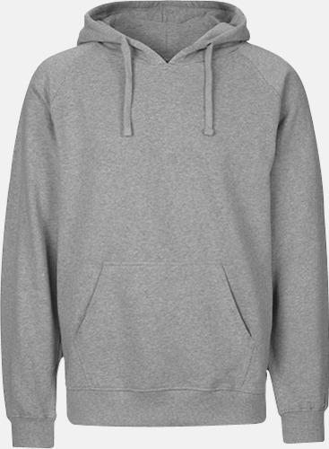 Sports grey (herr) Ekologiska huvtröjor för herr och dam med tryck