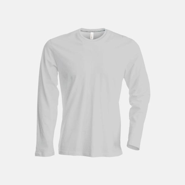 Oxford Grey (crewneck, herr) Långärmad t-tröja med rundhals för herr och dam med reklamtryck