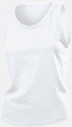 Vit (dammodell) Billiga bomullslinnen i herr- och dammodell med reklamtryck