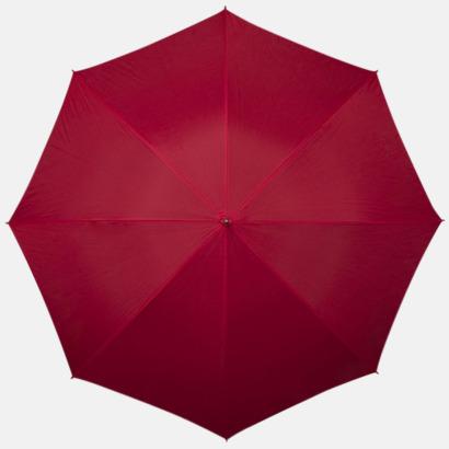 Röd Kompakt Paraplyer - Med tryck