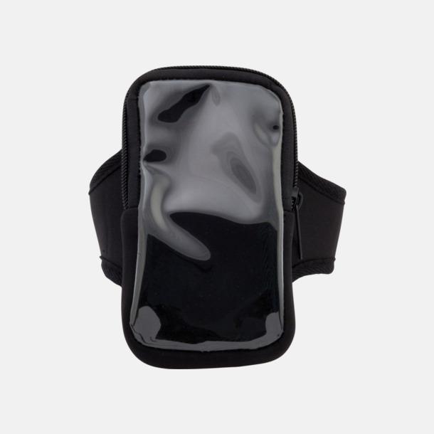Svart Joggingarmband av softshell för mobiltelefonen med reklamtryck