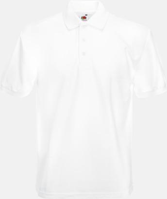Vit Pikétröjor med tryck eller brodyr