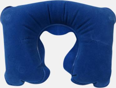 Uppblåsbar kudde (blå) Reseset för lugna resor - med reklamtryck