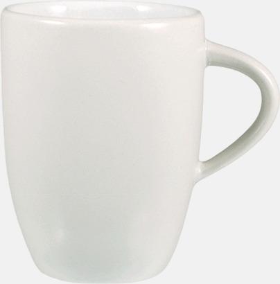 Vit Kaffemuggar med tryck