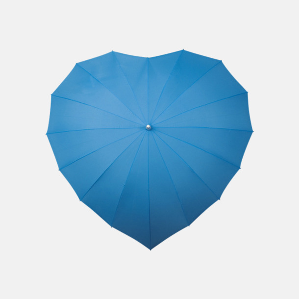 Blå (PMS 279C)  Hjärtformade paraplyer med eget reklamtryck