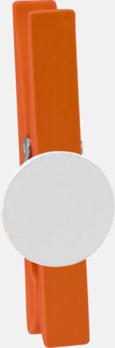 Orange Klädnypor med reklamtryck