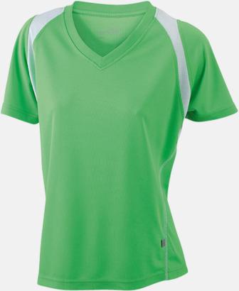 Lime Green/Vit Flerfärgade funktionströjor med eget tryck