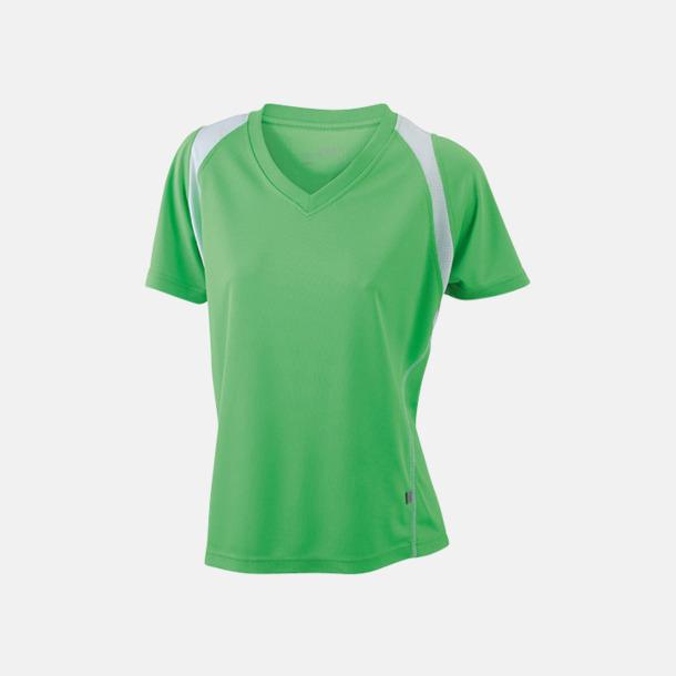 Limegrön/Vit Flerfärgade funktionströjor med eget tryck