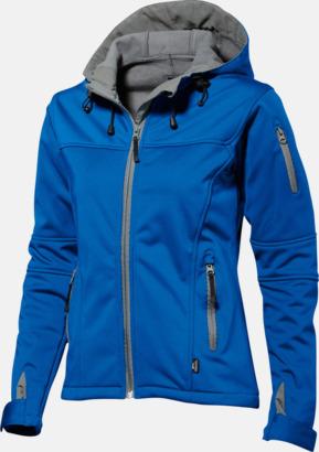 Sky Blue/Grå solid (dam) Soft-shell-jackor i herr- & dammodell med reklamtryck