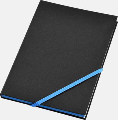 Svart/Neonblå (A6) Anteckningsböcker i A5- och A6-format med reklamtryck