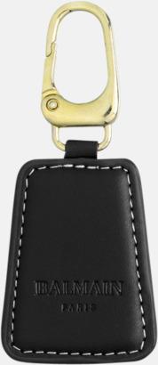 Nyckelring (svart) Exklusivt presentset från Balmain med reklamtryck